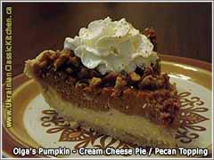 pumpkin cream cheese pie this pie has a rich creamy